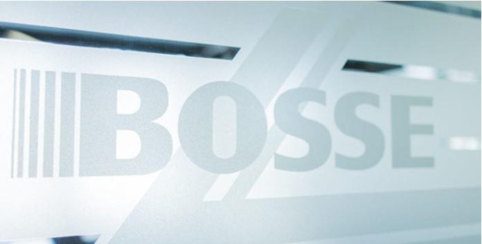 Bosse Berlin Logo auf Glas
